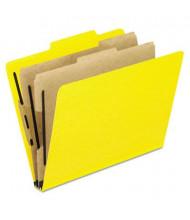 Pendaflex 6-Section Letter 20-Point Pressguard Classification Folders, Yellow, 10/Box
