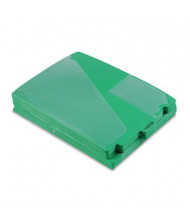 Pendaflex Letter Center Tab Out File Guides, Green, 50/Box