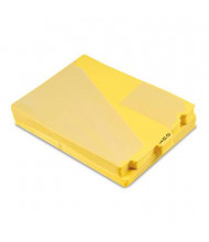 Pendaflex Letter Center Tab Out File Guides, Yellow, 50/Box
