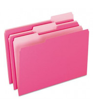 Pendaflex 1/3 Cut Tab Legal File Folder, Pink, 100/Box