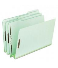 "Pendaflex Legal 3"" Expanding 1/3 Cut Tab 2-Fastener Pressboard Folder, Green, 25/Box"