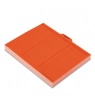 Pendaflex Letter 1/5 Top Tab Out/Substitution File Guides, Salmon, 100/Box