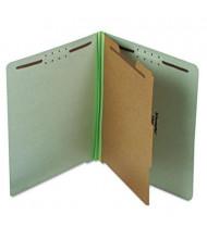Pendaflex 4-Section Letter Pressboard 25-Point Classification Folders, Green, 10/Box