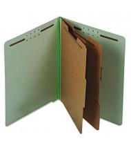Pendaflex 6-Section Letter Pressboard 25-Point Classification Folders, Pale Green, 10/Box