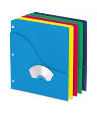 "Pendaflex 8-1/2"" x 11"" 3-Hole Punched Slash Pocket Project Folders, Assorted, 10/Pack"