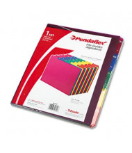 Pendaflex 1/5 Top Tab Letter Alphabetic File Guides, Assorted, 1 Set