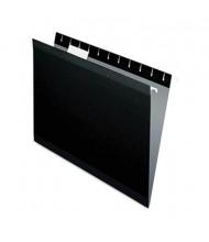 Pendaflex Letter Reinforced Hanging File Folders, Black, 25/Box