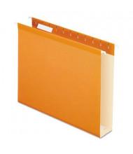 """Pendaflex Letter 2"""" Box Bottom Hanging File Folders, Orange, 25/Box"""