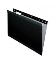 Pendaflex Legal Reinforced Hanging File Folders, Black, 25/Box