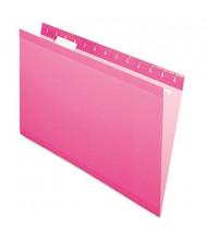 Pendaflex Legal Reinforced Hanging File Folders, Pink, 25/Box