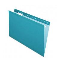 Pendaflex Legal Reinforced Hanging File Folders, Teal, 25/Box