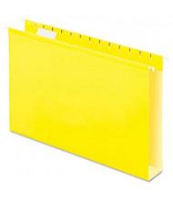 "Pendaflex Legal 2"" Box Bottom Hanging File Folders, Yellow, 25/Box"