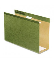 "Pendaflex Legal 4"" Box Bottom Hanging File Folders, Green, 25/Box"