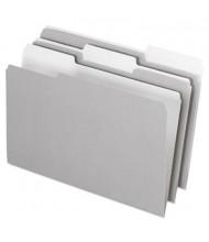 Pendaflex 1/3 Cut Tab Legal Interior File Folder, Gray, 100/Box