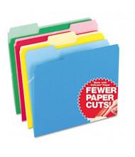 Pendaflex CutLess 1/3 Cut Tab Letter File Folder, Assorted, 100/Box