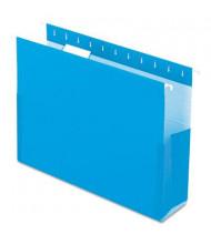 """Pendaflex SureHook Letter 3"""" Box Bottom Hanging Folders, Blue, 25/Box"""
