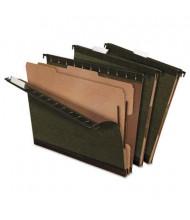 Pendaflex 6-Section SureHook Letter Hanging Divided Folders, Green, 10/Box