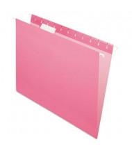Pendaflex Letter Hanging File Folders, Pink, 25/Box