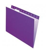 Pendaflex Letter Hanging File Folders, Violet, 25/Box