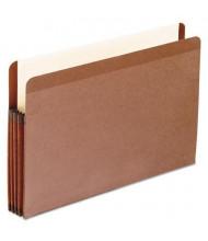 "Pendaflex Legal 3-1/2"" Expansion Straight Tab Pocket File, Red, 10/Box"