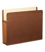 "Pendaflex Letter 5-1/4"" Expansion Straight Tab Pocket File, Red, 5/Box"