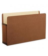 "Pendaflex Legal 5-1/4"" Expansion Straight Tab Pocket File, Red, 5/Box"