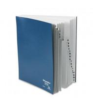 Pendaflex A-Z Indexed Letter Pressboard Expanding Desk File, Black/Blue