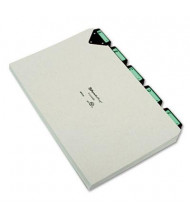 Pendaflex 1/5 Steel Top Tab Legal Alphabetic File Guides, Pressboard, 1 Set