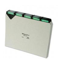 Pendaflex 1/5 Steel Top Tab Letter Alphabetic File Guides, Pressboard, 1 Set