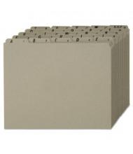 Pendaflex 1/5 Top Tab Letter Alphabetic File Guides, Pressboard, 1 Set