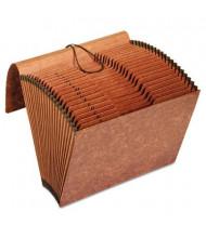 Pendaflex 21-Pocket Letter Indexed Expanding File, Brown