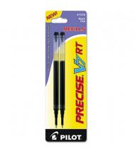 Pilot Refill for Pilot Precise V7 RT Rolling Ball, Black Ink, 2-Pack