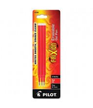 Pilot Refill for FriXion Erasable Gel Ink Pens, Red Ink, 3-Pack