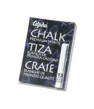 "Quartet Alpha Low-Dust 2-3/4"" Chalk, White, 12-Sticks"