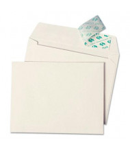 "Quality Park 4-1/2"" x 6-1/4"" Contemporary #10 Redi-Strip Greeting Card Envelope, White, 50/Box"
