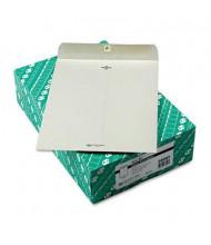 """Quality Park 10"""" x 13"""" #97 Clasp Envelope, Executive Gray, 100/Box"""