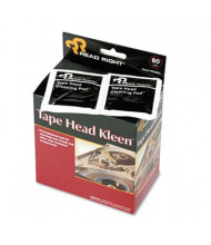 Read Right Tape Head Kleen Pad, Individually Sealed Pads, 80/Box