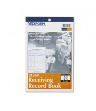 """Rediform 5-1/2"""" x 7-7/8"""" 50-Page 3-Part Receiving Record Book"""