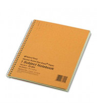 "National Brand 6-7/8"" X 8-1/4"" 80-Sheet Legal Rule Notebook, Brown Board Cover"