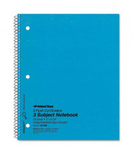 "National Brand 8-7/8"" X 11"" 150-Sheet College Rule Notebook, Blue Cover"