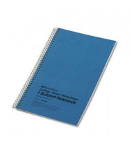 "National Brand 6"" X 9-1/2"" 80-Sheet College Rule Notebook, Blue Cover"