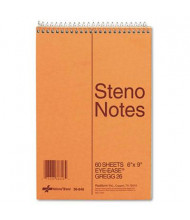 "National Brand 6"" X 9"" 60-Sheet Gregg Rule Steno Notepad, Green Paper"
