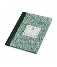 "National Brand 7-7/8"" X 10-1/8"" 96-Sheet Legal Rule Lab Notebook, Green Marble Cover"