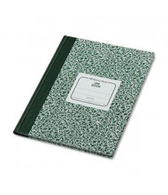 "National Brand 7-7/8"" X 10-1/8"" 96-Sheet Quadrille Rule Lab Notebook, Green Marble Cover"