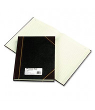 """National Brand 8-3/8"""" x 10-3/8"""" 300-Page Texhide Account Book, Black/Burgundy Cover"""