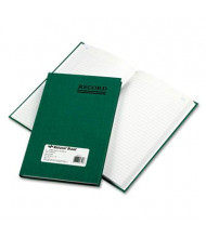 "National Brand 6-1/4"" x 9-5/8"" 200-Page Emerald Account Book, Green Cover"