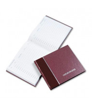 "National Brand 9-7/8"" x 8-1/2"" 128-Page Visitor Register Book, Burgundy Hardcover"