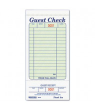 """Rediform 3-3/8"""" x 6-1/2"""" 50-Page Tear-Off Guest Check Book"""
