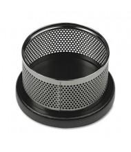 Rolodex Distinctions Round Paper Clip Holder, Metal/Black
