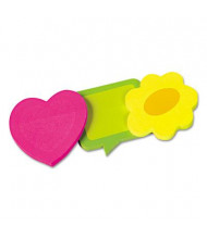 """Redi-Tag 2-5/8"""" X 2-5/8"""", 3 50-Sheet Pads, Assorted Shape Sticky Notes"""